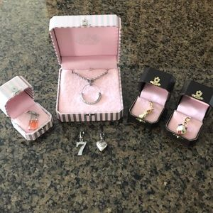 Juicy Couture Charm Necklace and Charms Set